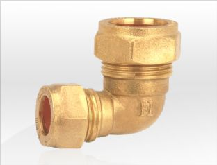 22mm x 15mm compression fitting Reducing Elbow 90º (Bag of 10=£22.50)
